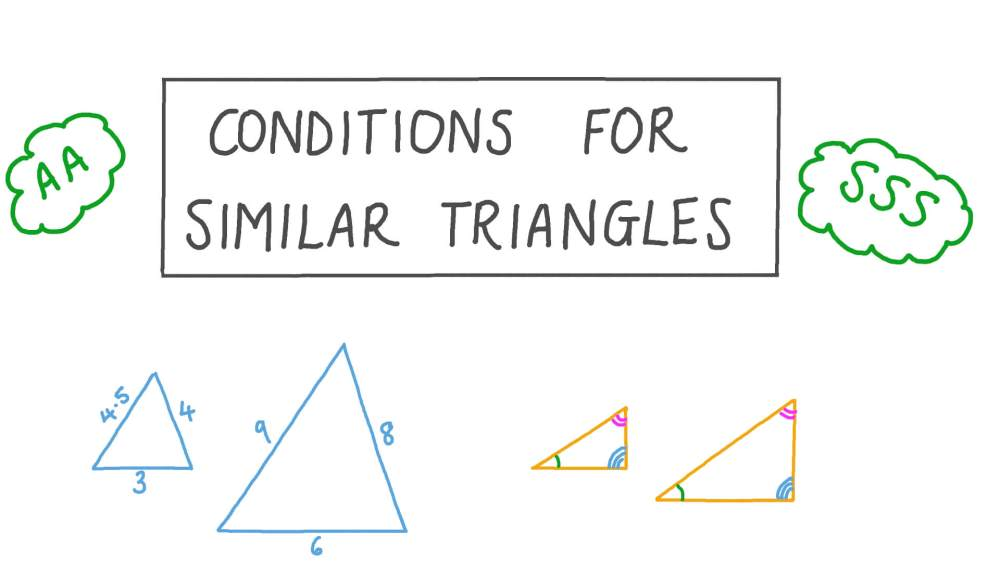 medium resolution of Lesson Video: Conditions for Similar Triangles   Nagwa
