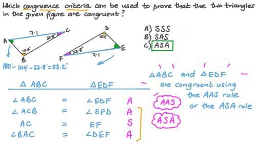 small resolution of Question Video: Using Triangle Congruence Criteria to Establish Congruence    Nagwa