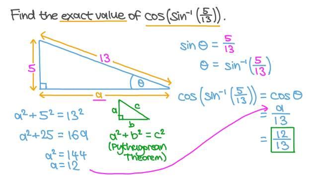 Using Trigonometric Ratios to Find the Exact Value of Trigonometric  Functions