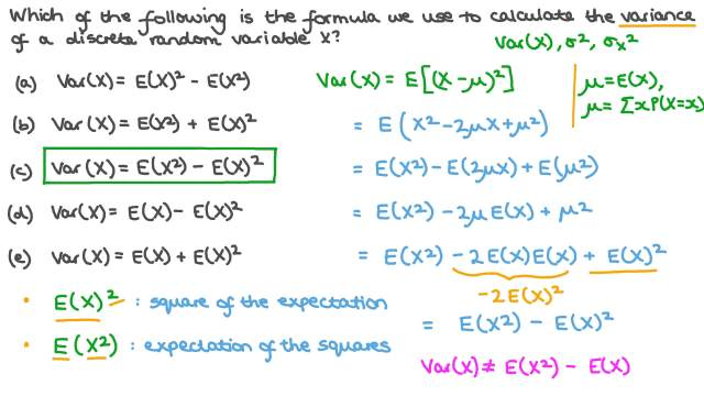 The Formula for Calculating the Variance of a Discrete Random Variable