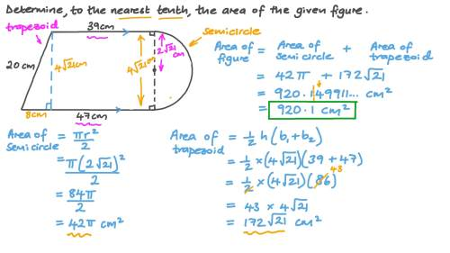 small resolution of Question Video: Determining the Area of a Composite Figure   Nagwa