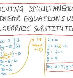 Lesson: Solving Systems of Linear Equations Using Substitution   Nagwa [ 756 x 1344 Pixel ]