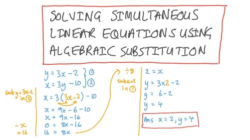 small resolution of Lesson: Solving Systems of Linear Equations Using Substitution   Nagwa