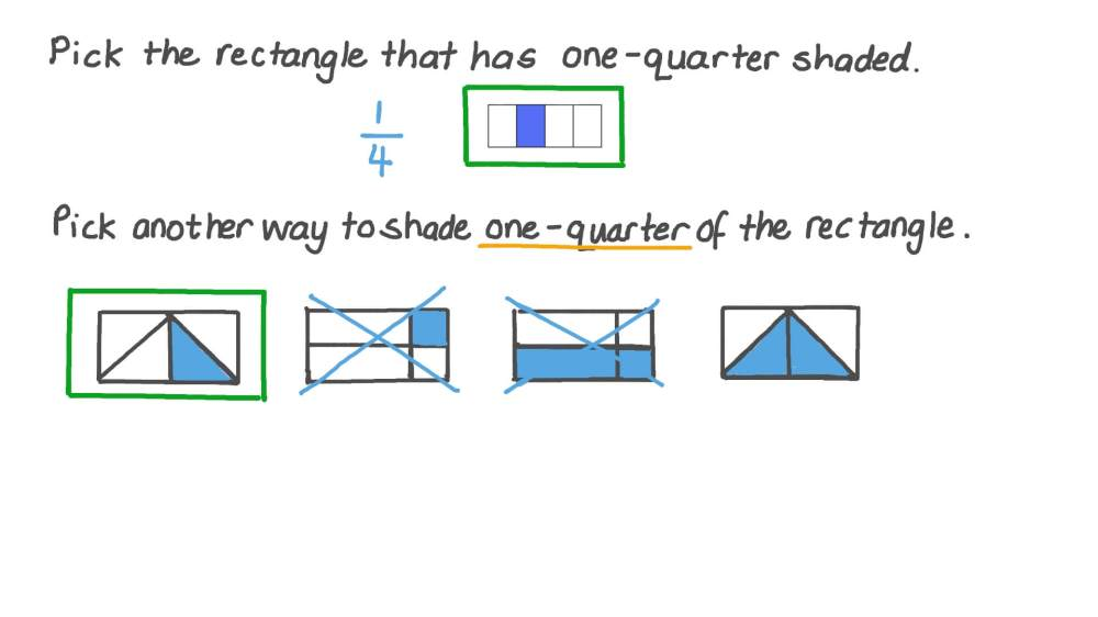 medium resolution of Lesson Video: Equal Parts with Different Shapes   Nagwa