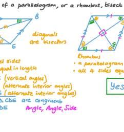 Question Video: Properties of Parallelograms and Rhombuses   Nagwa [ 756 x 1344 Pixel ]