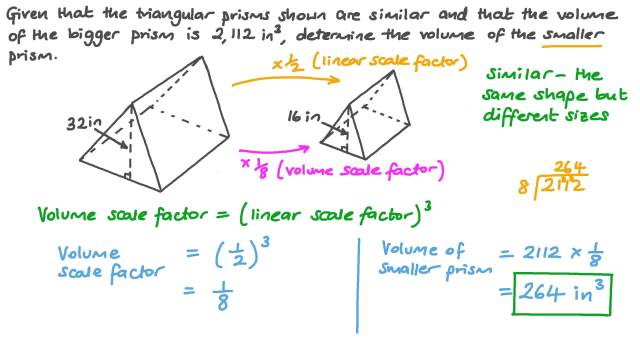Finding the Volume of a Triangular Prism Using Similarity