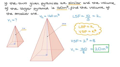 small resolution of Question Video: Finding the Volume of a Pyramid Using Similarity   Nagwa