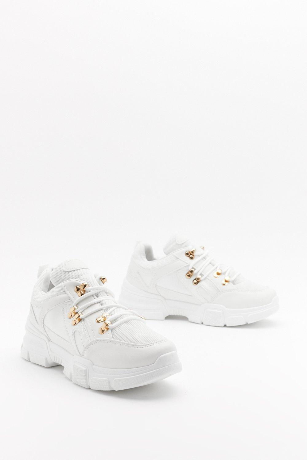 pu hiker lace trainer