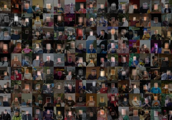 Images from the MegaFace face recognition training and benchmarking data set