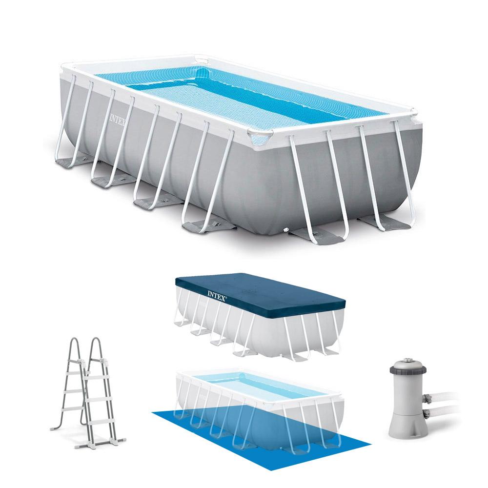 piscine tubulaire rectangulaire intex 4 88 x 2 44 x 1 07 m