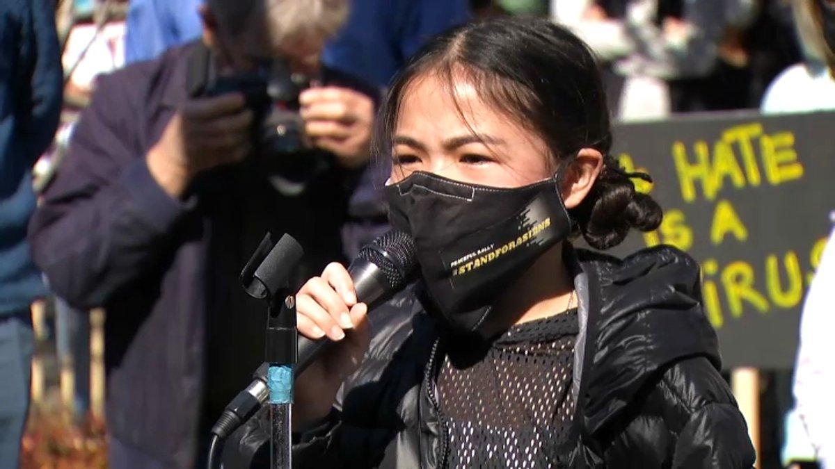 www.nbcbayarea.com: San Mateo Girl Organizes Rally to Denounce Hate Crimes Against Asian Community