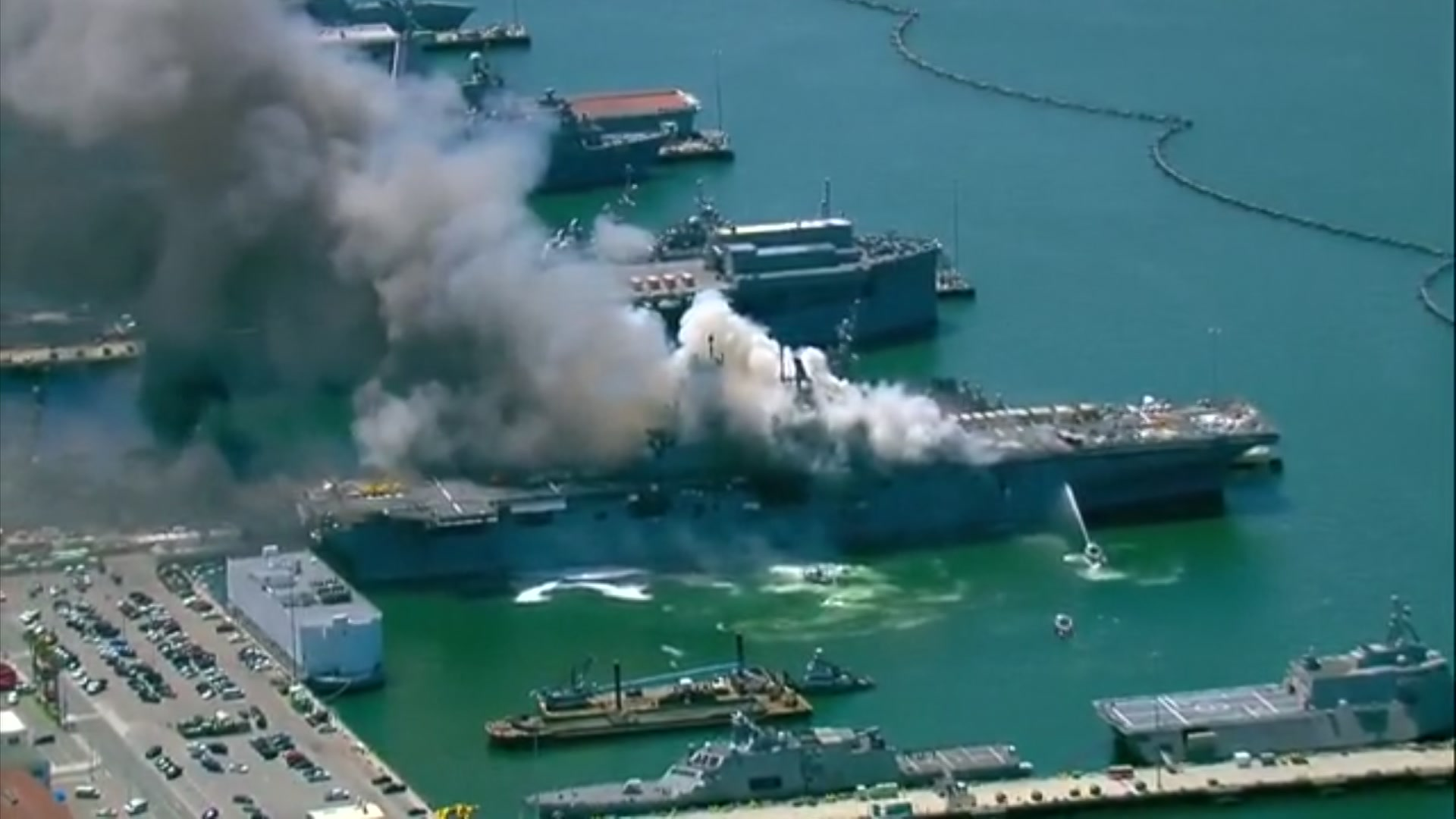 18 Sailors Injured After Fire Erupts On Navy Ship In San