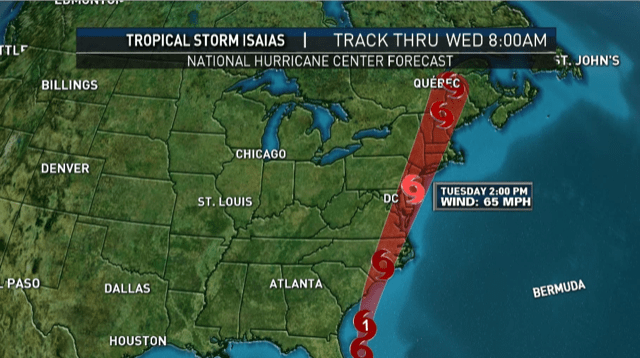 Track Tropical Storm Isaias How Will It Impact New