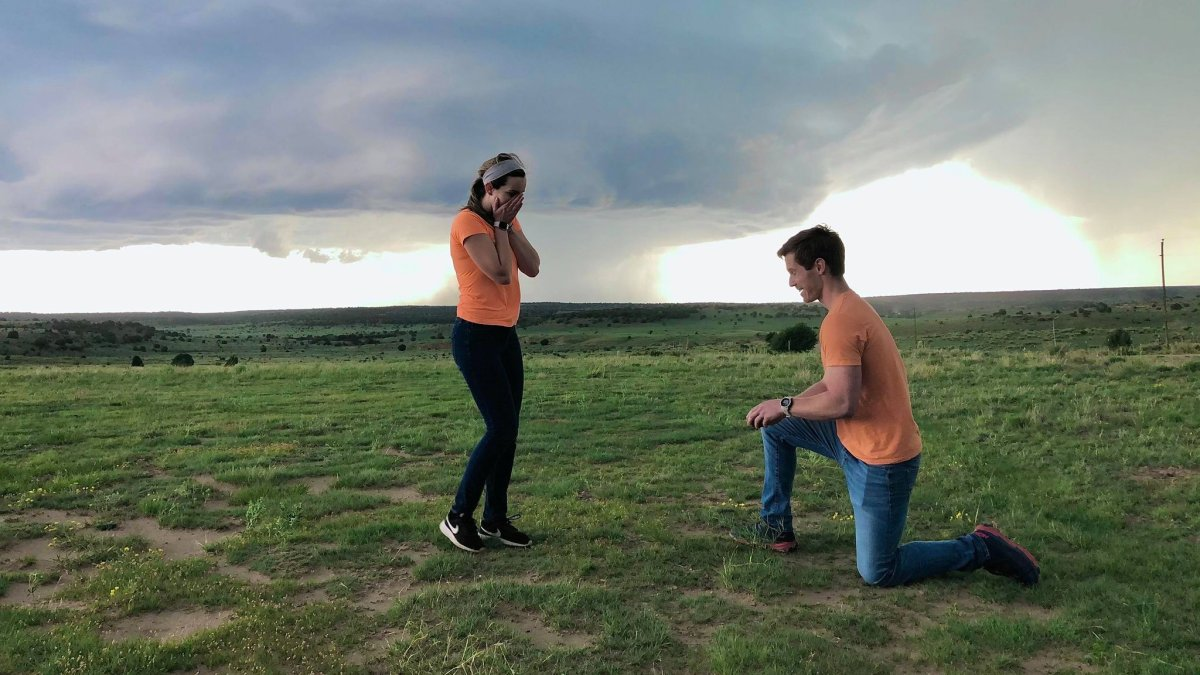 She Was Blown Away: As the Tornado Touched Down, So Did His Knee