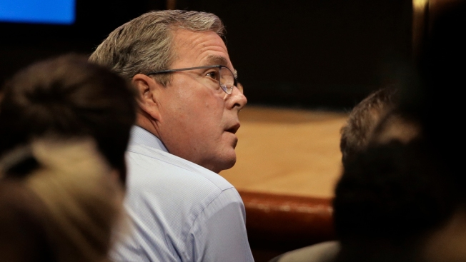 Jeb Bush Calls Father 'Stronger Than an Ox,' Talks Politics in RI