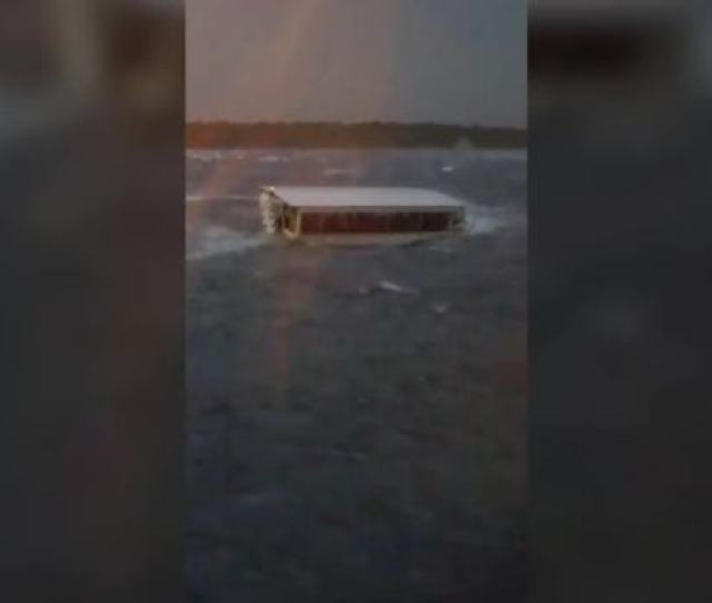 A Woman On A Nearby Boat Took Video Of Two Sightseeing Duck Boats Struggling Through A Choppy Lake In Branson Missouri Thursday
