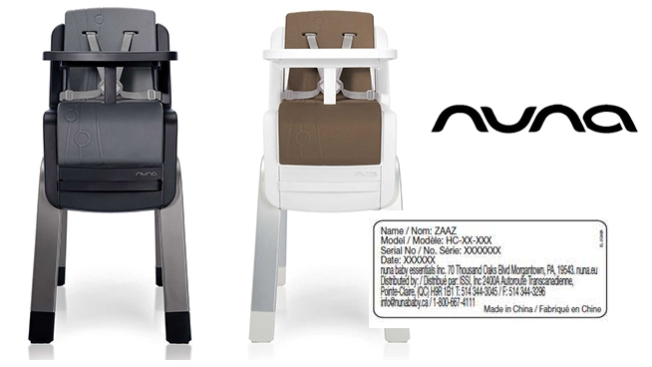 high chair recall white outdoor dining australia nuna baby essentials recalls chairs over fall hazard nbc chicago