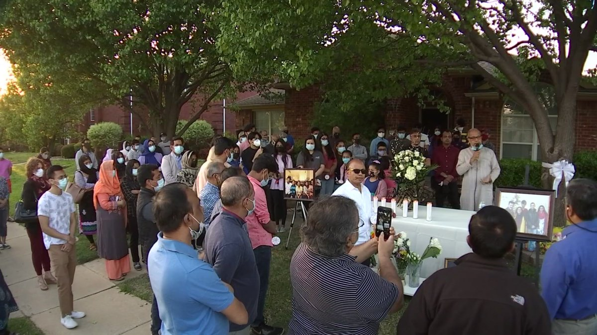 At Vigil for Allen Family Found Dead, Family Members Said They Didn't Know of 'Trouble'