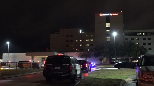 Raw: Denton PD Supports Officer Wounded in Shootout