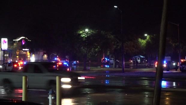 Raw: Denton Officer Shot During Traffic Stop