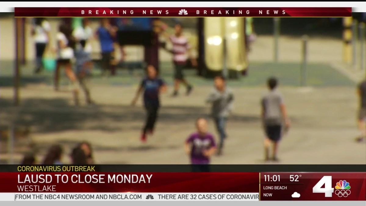 LAUSD Announces Schools Will Close for Coronavirus Response – NBC ...