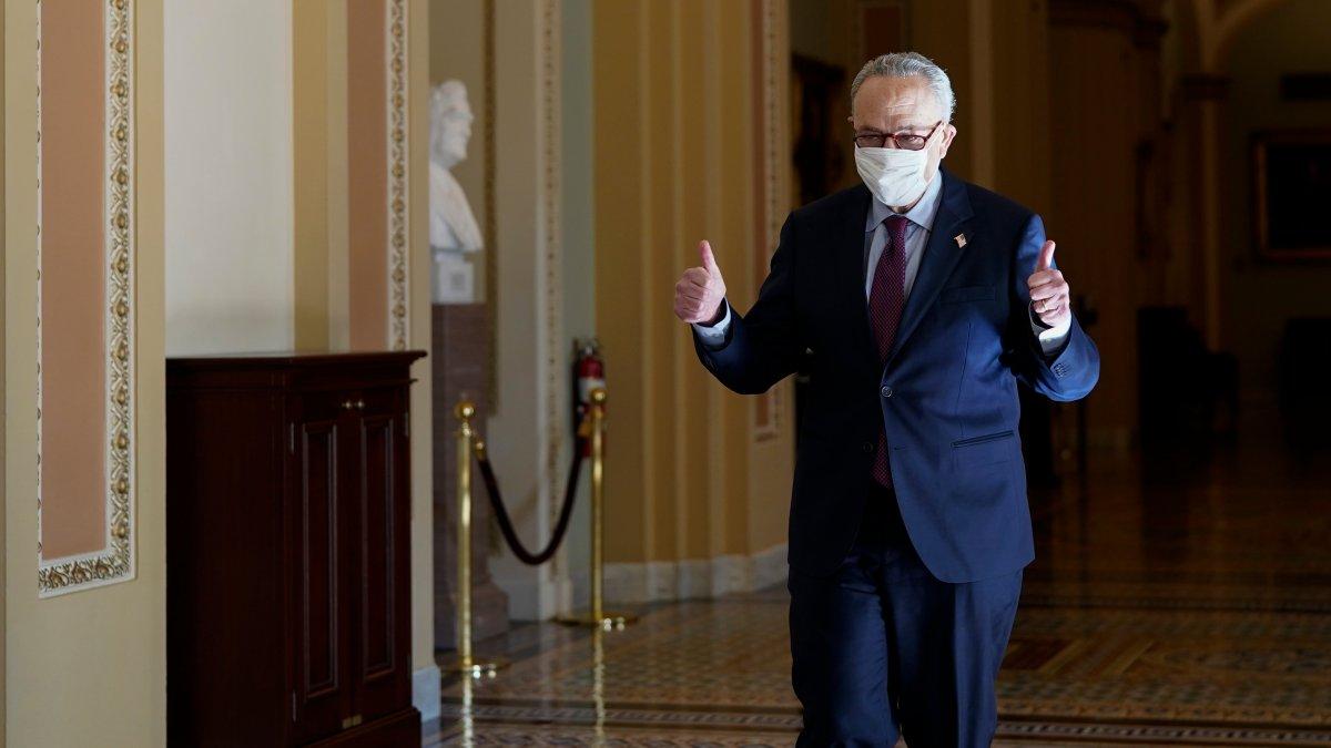 Biden, Dems Prevail as Senate OKs $1.9T Virus Relief Bill 1