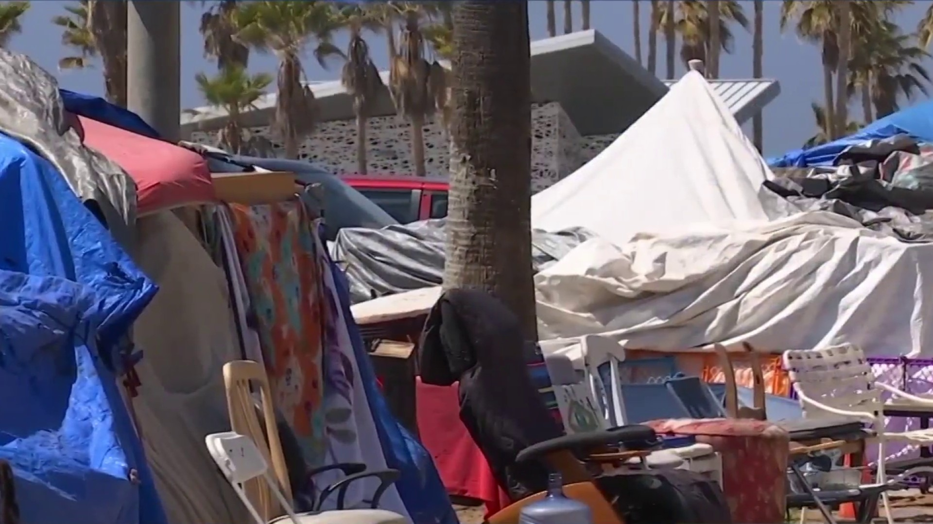 Residents demand LA Move Venice Beach Homeless Off the Streets 4/16/21