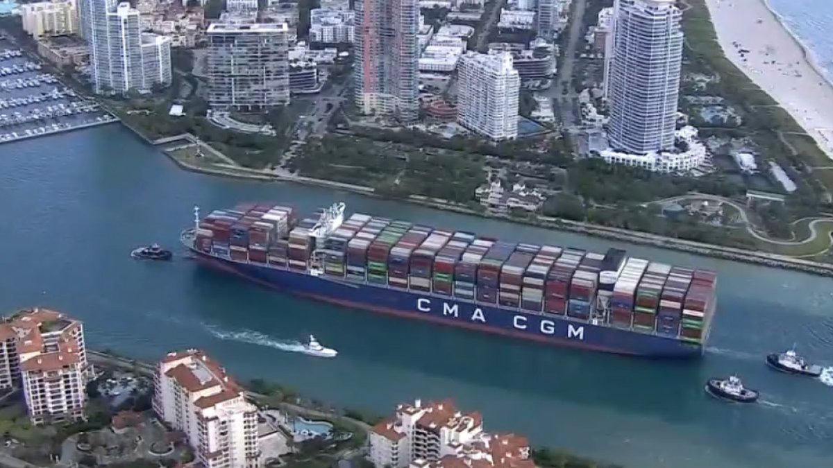 Massive Container Ship, Largest to Ever Call at Florida Port, Arrives at PortMiami