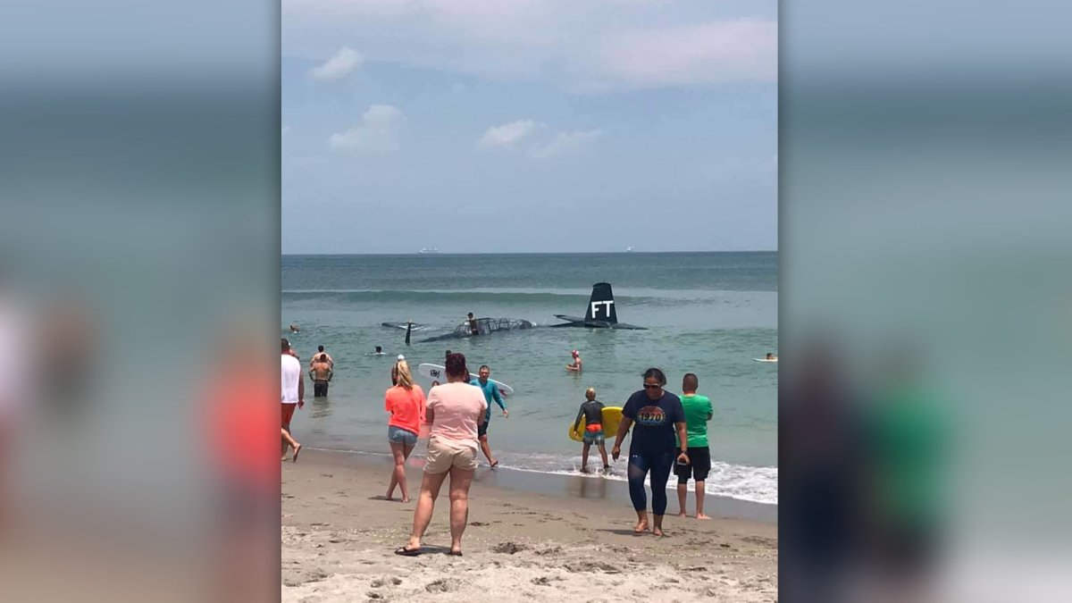 WW II-Era Plane Makes Emergency Ocean Landing At Air Show