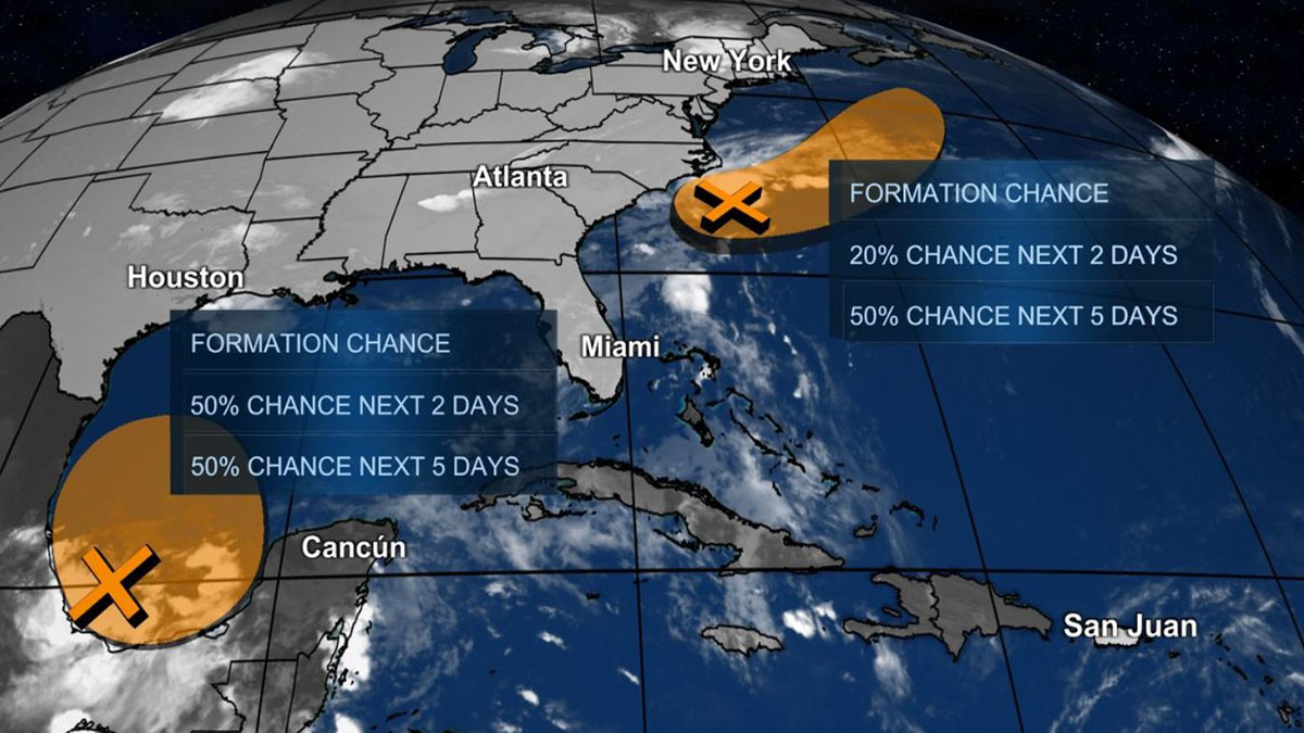 Next Potential Systems Could Form by End of Week, Not Forecast to Impact U.S.: NHC