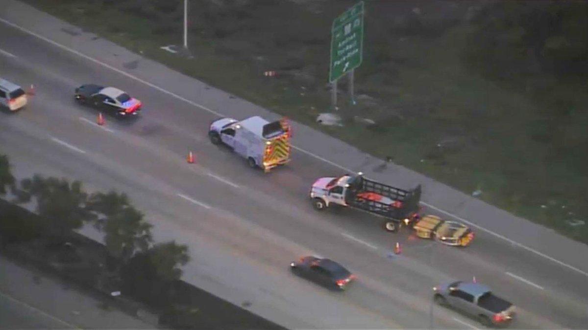 Man Killed in Hit-and-Run Crash Along I-95 in Broward