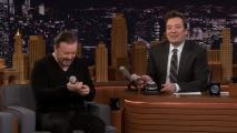 tjf_hlt_s6e099_1027_singingintheface_20190311-155237895340200002 'Tonight:' Singing in the Face With Ricky Gervais
