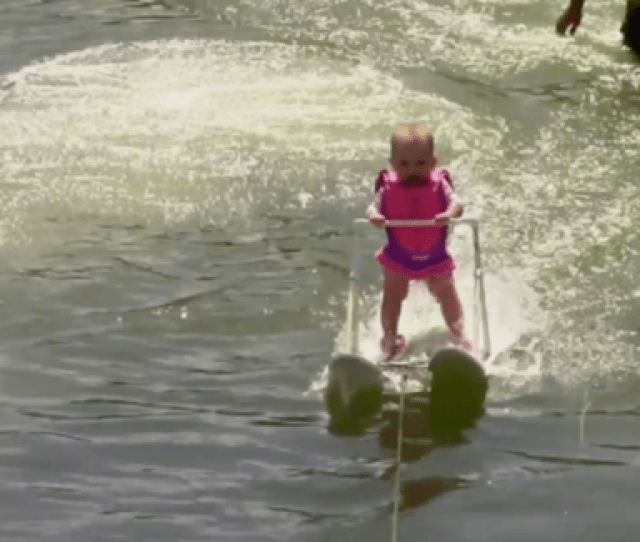 Month Old Baby Water Skis In Florida