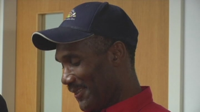 Cleaning service worker Patrick Morgan was honored for his honesty at an award ceremony Wednesday morning. He talked about finding a big wad of cash in an iPad case.