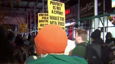[NY] Crowds March In Harlem Protesting Subway Arrests