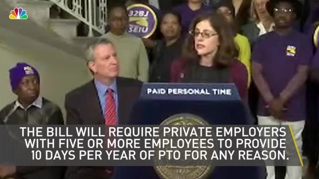 [NY] NYC Introduces Proposal for Mandatory Paid Time Off