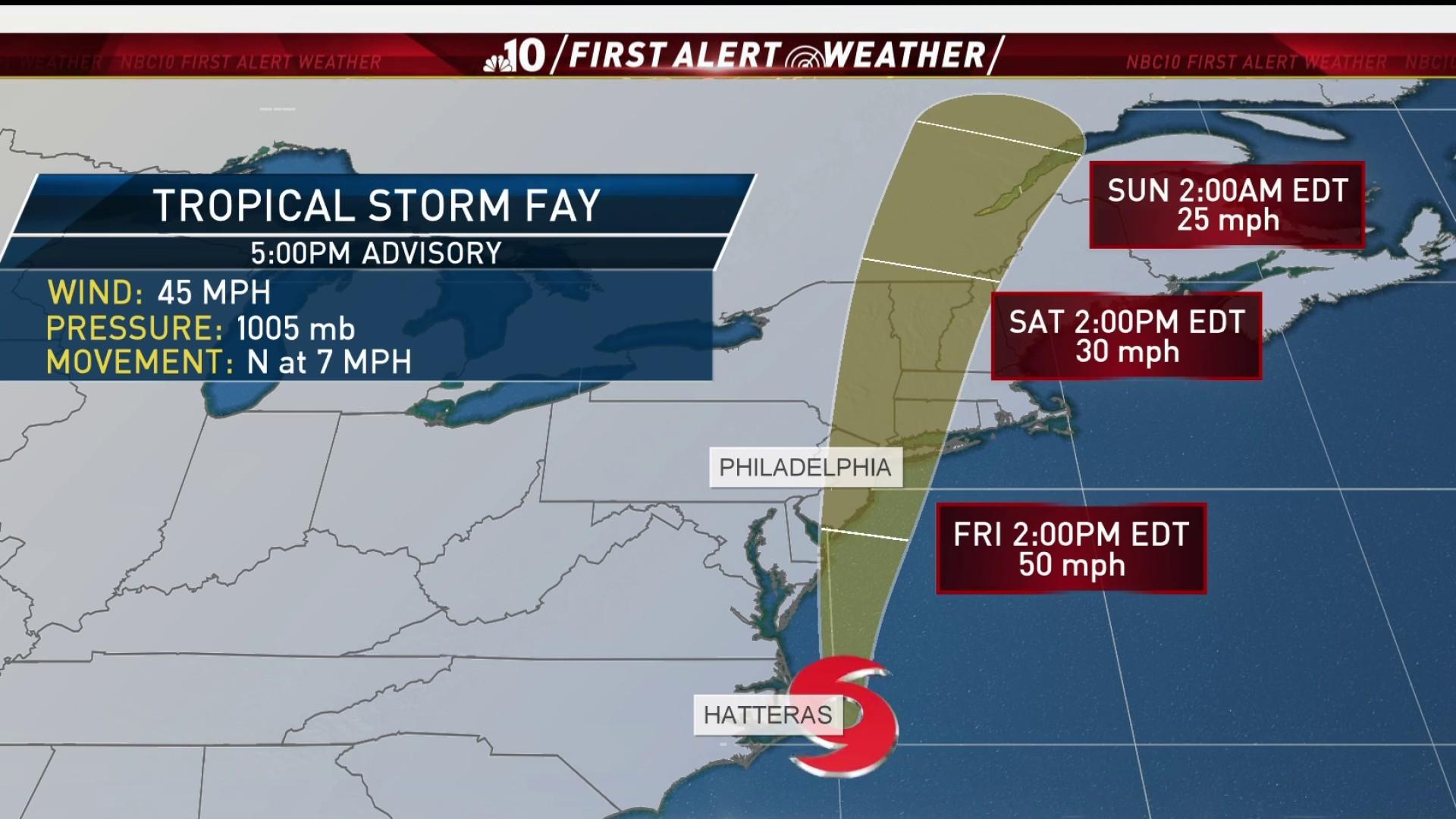 Tropical Storm Fay To Bring Heavy Rain Flooding Threat
