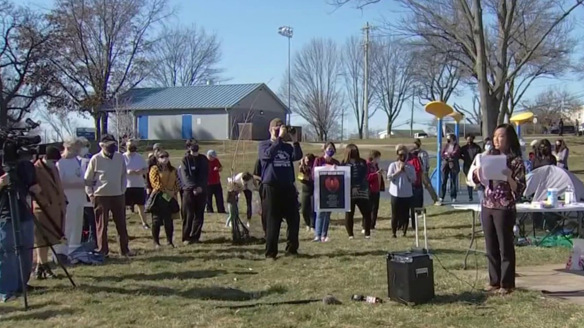 www.nbcphiladelphia.com: Local Residents Stand in Solidarity With Asian-American Community During Rally in Montco
