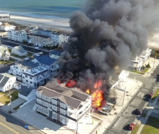 Drone Video Of Sea Isle City Fire