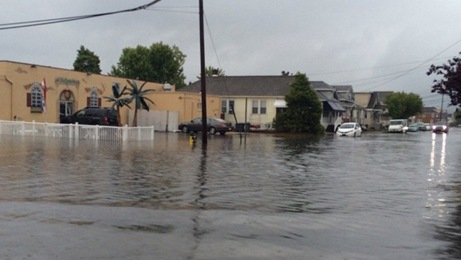 Heavy Rain Causes Flooding in Wildwood  NBC 10 Philadelphia