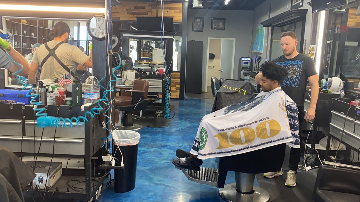 Barbershop Prepares for Economy's Reopening, Still Taking Precautions