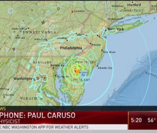 Usgs Expert Speaks About Earthquake Felt In Dc Area