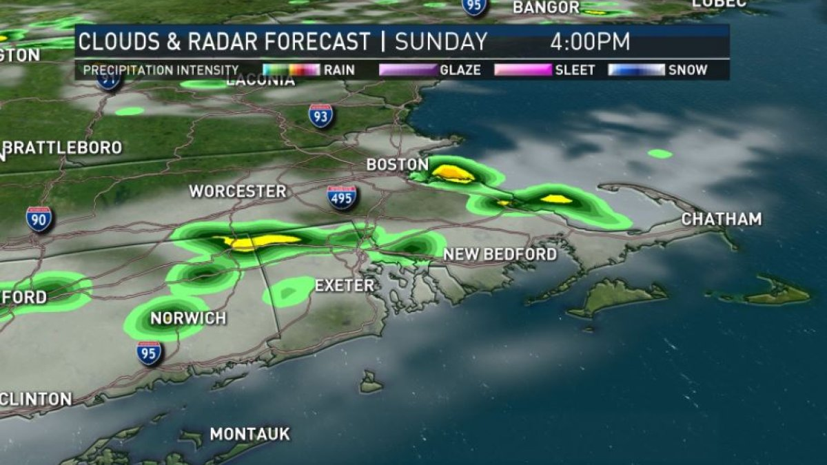 Threat for Showers, Thunderstorms Moves in Sunday Afternoon