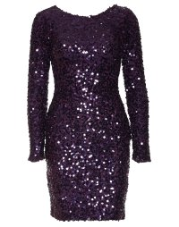 Tight Sequin Dress - Nly One - Purple - Party Dresses ...