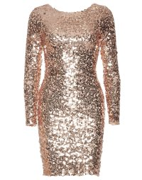 Tight Sequin Dress - Nly One - Champagne - Party Dresses ...