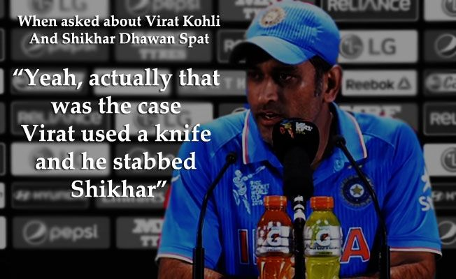 Mahendra Singh Dhoni Owned Journalists With His Sarcastic Sense Of Humour
