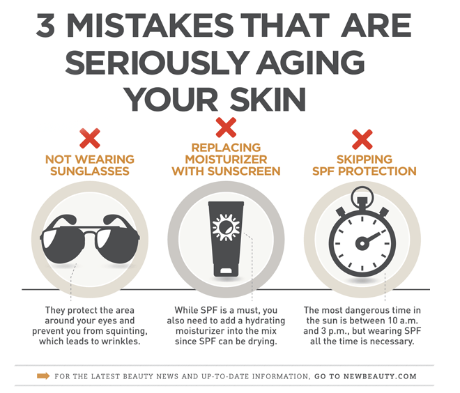 Mistakes Aging Your Skin