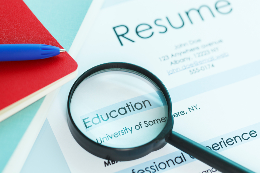 format for writing a cv