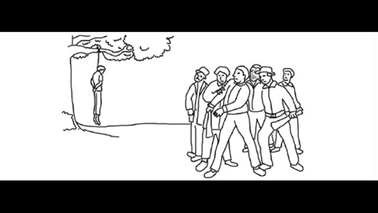 Lynching shown in 2nd-grade coloring book