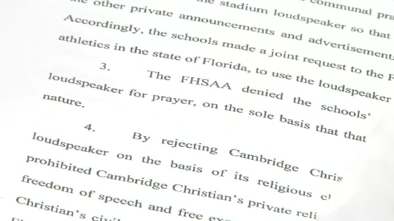 Debate over football game prayer heads to court
